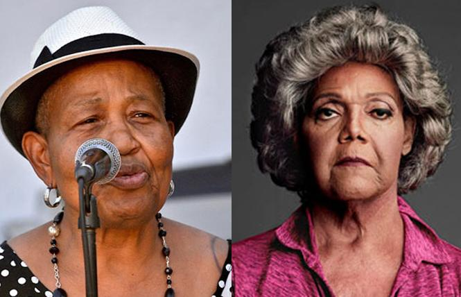 Brenda Crawford, left, and Miss Major Griffin-Gracy received Acey Awards from the Astraea Lesbian Foundation for Justice. Photos: Courtesy Astraea Foundation