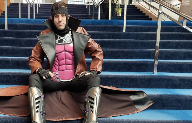 Shawn Kinnear dressed as one of his favorite characters, Gambit. photo: Shawn Kinnear