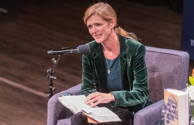 Former U.S. Ambassador to the United Nations Samantha Power recently spoke in San Francisco about her new book. Photo: Jane Philomen Cleland