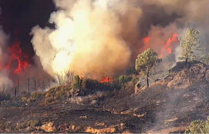 The Kincade fire in Sonoma County has prompted evacuations in Guerneville and other towns in western parts of the county. Photo: Courtesy ABC7 News