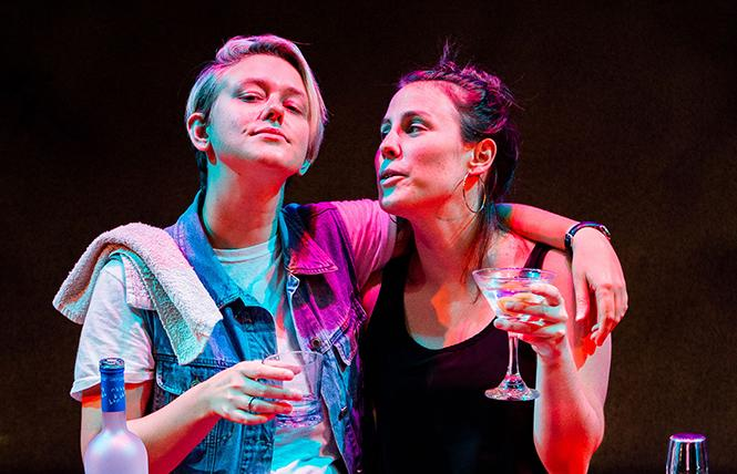 "Em Lee Reaves, Olivia Levine in ""The Daughters,"" part of San Francisco Playhouse's Sandbox Series. Photo: Jessica Palopoli"