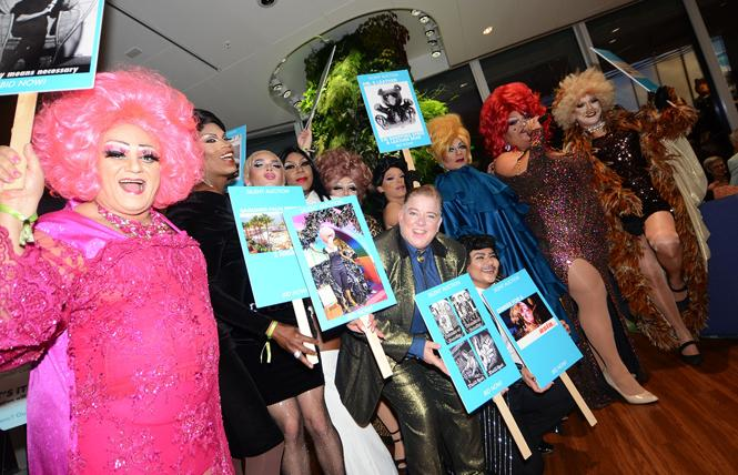 Drag queens and other performers at the GLBT Historical Society's recent gala took a final bow. Photo: Rick Gerharter
