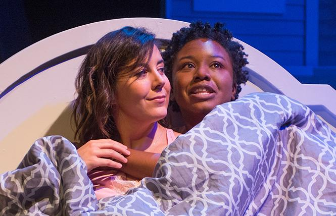 "Jensen Power and Asia Jackson in a scene from playwright Bekah Brunstetter's ""The Cake,"" now playing at New Conservatory Theatre Center. Photo: Lois Tema"
