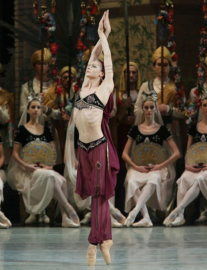 "Ekaterina Kondaurova dancing ""La Bayadère"" with Mariinsky Ballet and Orchestra in Zellerbach Hall. Photo: Natasha Razina"