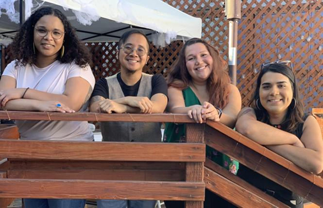 The LYRIC school-based initiative team includes, from left, Amara M., Jamil Moises O., Felicia R., and Frida I. According to a spokeswoman, LYRIC's policy is to list people with their first name and last initial for confidentiality reasons. Photo: Courtesy LYRIC