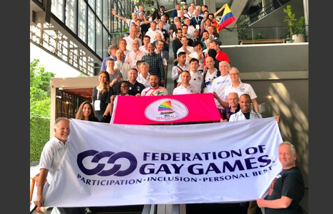Members of the Federation of Gay Games assembly held their annual meeting last week at the Krystal Urban hotel in Guadalajara, Mexico. Photo: Courtesy FGG