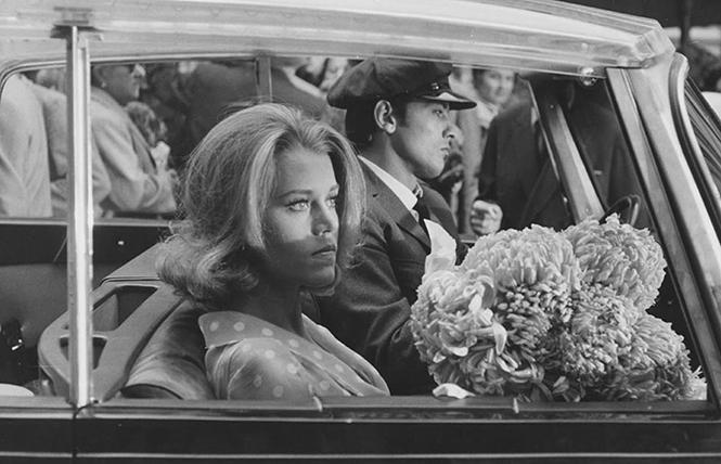 """Jane Fonda and Alain Delon star in director Rene Clement's """"Les Felins,"""" or, """"The Love Cage."""" Photo: Courtesy the curator"""