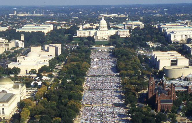 The AIDS quilt was last fully displayed in October 1996 on the National Mall in Washington, D.C. Photo: Rick Gerharter