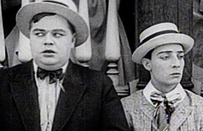 "Roscoe ""Fatty"" Arbuckle and Buster Keaton star in three shorts in ""A Day of Silent Film Classics,"" coming to the Castro Theatre. Photo: Silent Film Society of Chicago"