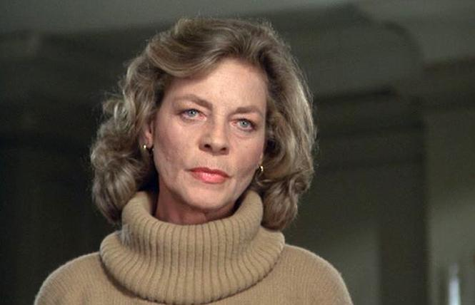 "Lauren Bacall basically plays herself as Sally Ross in ""The Fan."" Photo: Scream Factory"