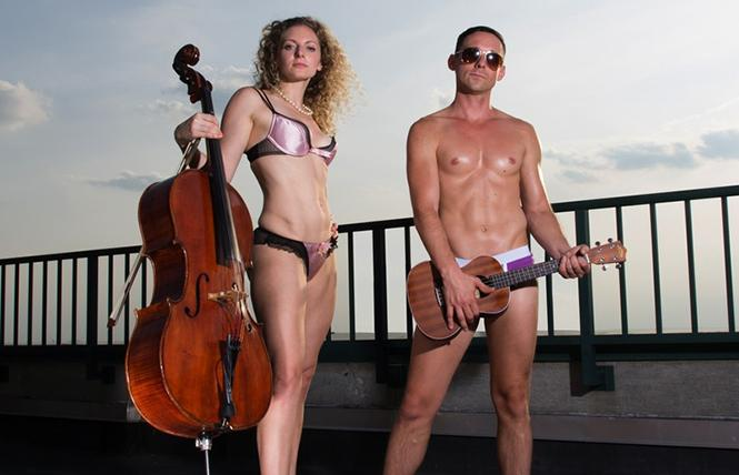 The Skivvies, aka Lauren Molina and Nick Cearley.