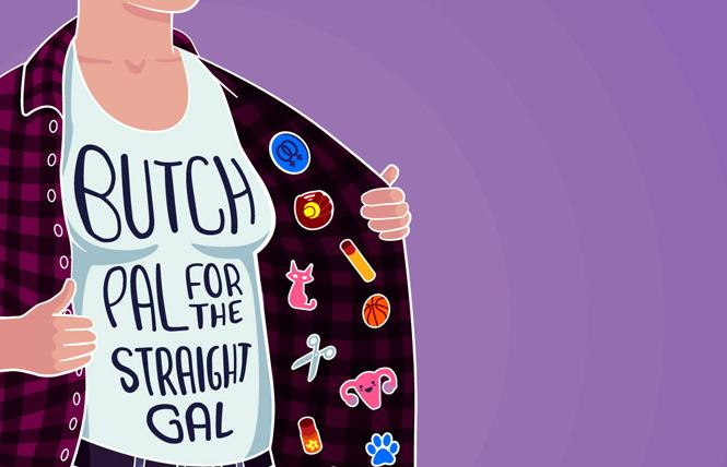 """Ally Johnson is in post-production with her lesbian reality series """"Butch Pal for the Straight Gal."""" Photo: Courtesy the subject"""