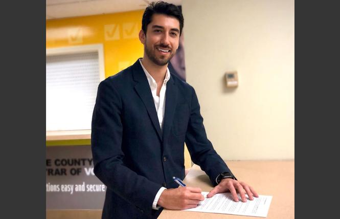 Bijan Mohseni filed papers for an Orange County state Assembly seat he is seeking. Photo: Courtesy Instagram