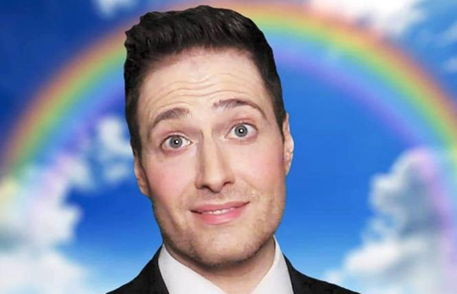 "Randy Rainbow: ""James Corden is always stealing my shine."" Photo: Courtesy the artist"