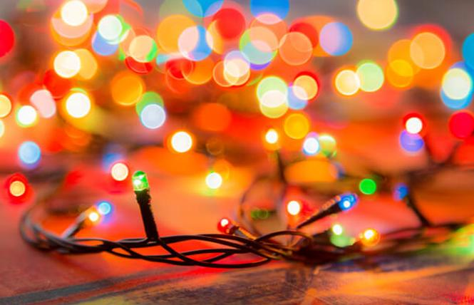 Christmas lights illuminate the holidays. Photo: Courtesy Energy Efficiency