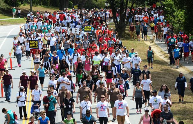 People took part in the 2015 AIDS Walk San Francisco in Golden Gate Park. Photo: Rick Gerharter