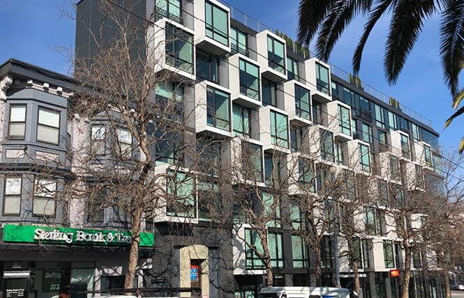 Sterling Bank & Trust plans to relocate its Castro branch into the corner retail space in the adjacent mixed-use building that opened last fall. Photo: Matthew S. Bajko