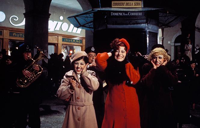 "Scene from director Federico Fellini's ""Amarcord"" (1974). Photo: BAMPFA"