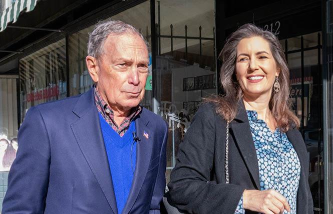 Democratic presidential candidate Michael Bloomberg took a walking tour of Oakland with Mayor Libby Schaaf January 17. Photo: Jane Philomen Cleland