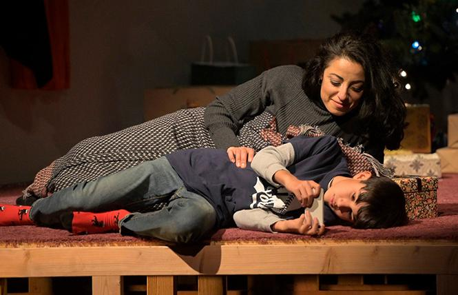 "Noura (Denmo Ibrahim) and son Yazen (Valentino Herrera) in playwright Heather Raffo's ""Noura"" at the Marin Theatre Company. Photo: Courtesy MTC"