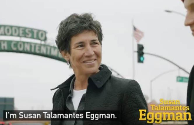 Assemblywoman Susan Talamantes Eggman has released a TV ad focused on homelessness for her state Senate campaign. Photo: Courtesy YouTube