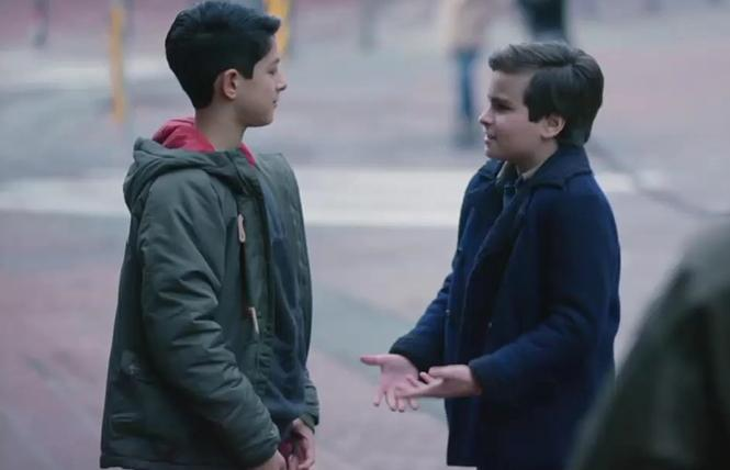 """Danny (Chance Hurstfield) and Elliot (Bodhi Sabongui) finally got to kiss on ABC's """"A Million Little Things."""" Photo: ABC-TV"""