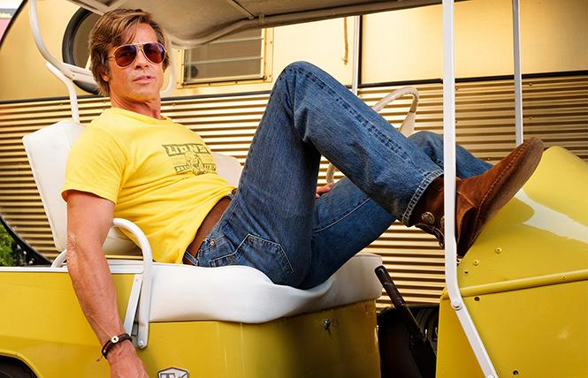"""Brad Pitt looks like 1969 Hollywood in """"Once Upon a Time in Hollywood."""" Photo: Andrew Cooper, Sony Pictures"""