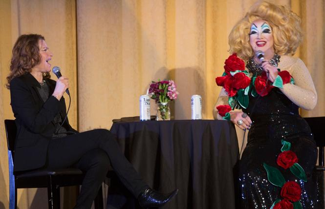 Sandra Bernhard, left, traded gossip with Peaches Christ during her January 19 appearance at the Castro Theatre as part of SF Sketchfest. Photo: Dan Dion