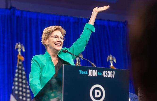 Democratic presidential candidate Senator Elizabeth Warren. Photo: Jane Philomen Cleland