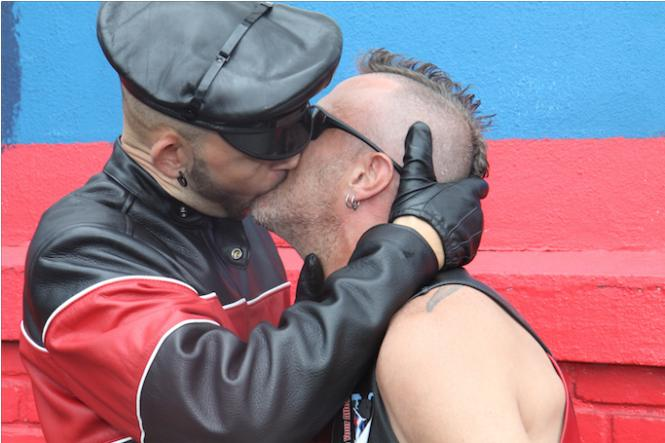 A smooch at a recent Folsom Street Fair. photo: Rich Stadtmiller