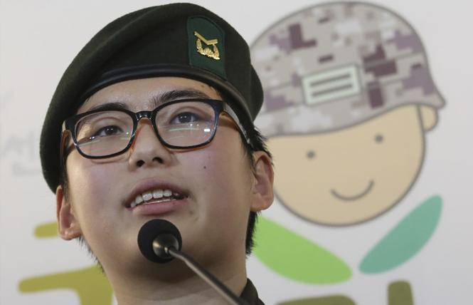 Staff Sergeant Byun Hui-su was discharged from the South Korean Army for transitioning her gender. Photo: Associated Press