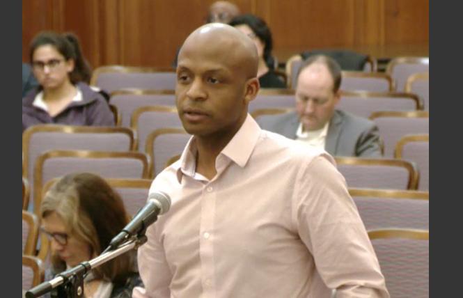 Dr. Hyman Scott spoke at a recent health commission meeting. Photo: Screengrab via sfgov.tv
