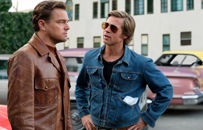 """Leonardo DiCaprio and Brad Pitt in a scene from """"Once Upon a Time... in Hollywood."""" Photo: Andrew Cooper/Sony Pictures"""