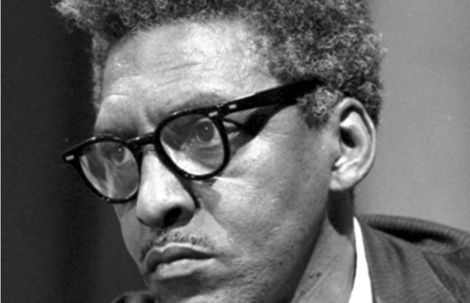 Gay civil rights leader Bayard Rustin