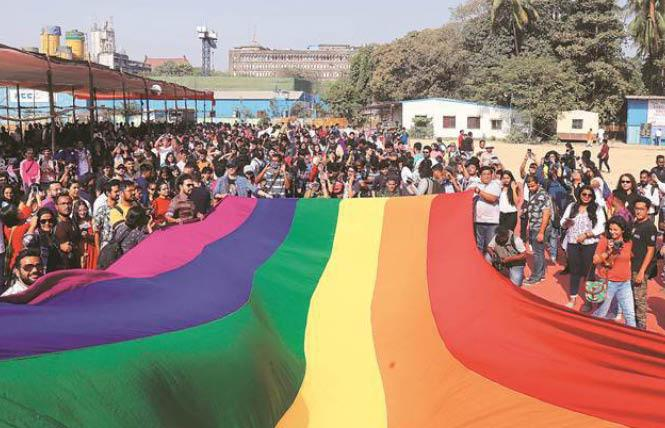 Pridegoers attended a smaller Mumbai Pride celebration this year. Photo: Courtesy the Indian Express