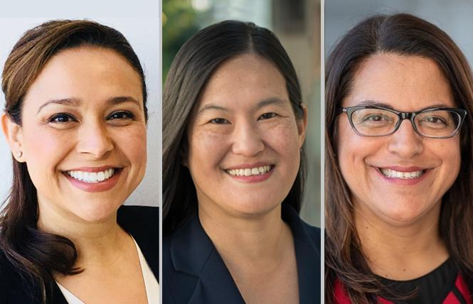 "San Francisco Superior Court judicial candidates Maria Elena Evangelista, left, Dorothy Chou Proudfoot, and Kulvindar ""Rani"" Singh. Photos: Courtesy campaigns"