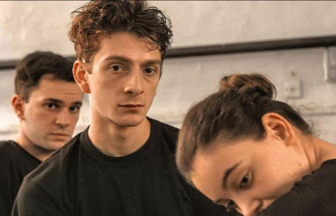 "Levan Gelbakhiani (center) as Merab, a talented Georgian dancer in writer-director Levan Akin's ""And Then We Danced."" Photo: Music Box Films"