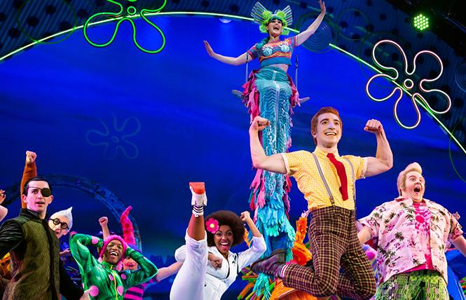 """Scene from the touring version of """"The SpongeBob Musical"""" at the Golden Gate Theatre in SF. Photo: Jeremy Daniel, courtesy Broadway SF"""