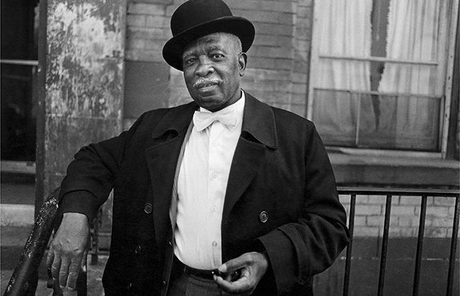 """""""A Man in a Bowler Hat, Harlem NY"""" (1976) by Dawoud Bey. Photo: SFMOMA"""