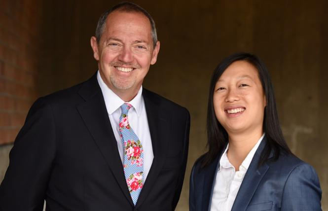 San Francisco DCCC candidates Bevan Dufty, left, and Janice Li. Photo: Steven Underhill