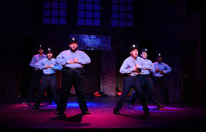 "Scene from the Bay Area Musicals production of ""The Full Monty"" now at the Victoria Theatre. Photo: Ben Krantz Studio"