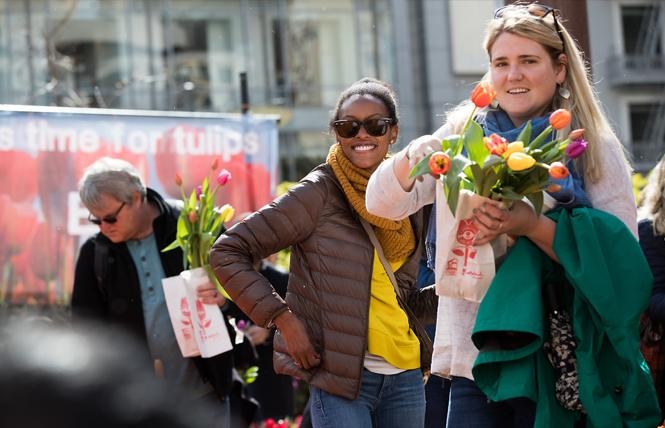 People flocked to Union Square last year for Flower Bulb Day. Photo: iBulb