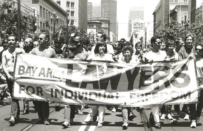 BALIF supporters march in a San Francisco Pride parade. Photo: Courtesy BALIF