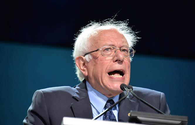 Senator Bernie Sanders won the Democratic presidential primary in California. Photo: Bill Wilson
