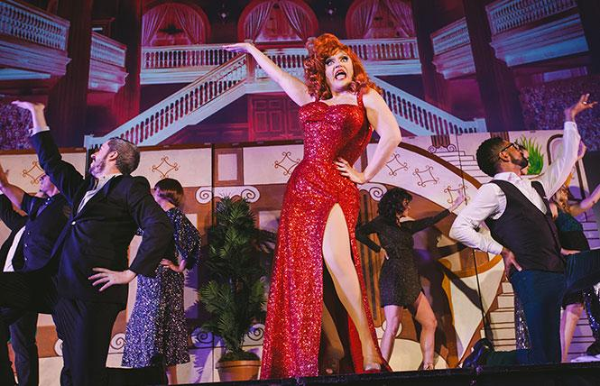 """Scene from a 2018 production of """"Drag Becomes Her,"""" coming to the Castro Theatre. Photo: Sloane Kanter"""