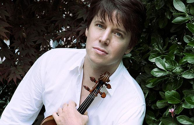 Violinist Joshua Bell, director and soloist of the Academy of St. Martin in the Fields (ASMF), appeared at Davies Hall. Photo: Lisa Marie Mazzucco