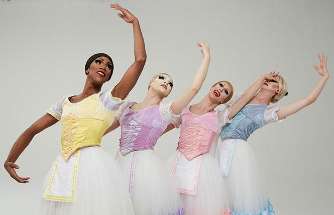 Members of Les Ballets Trockadero de Monte Carlo, coming to Cal Performances. Photo: Zoran Jelenic