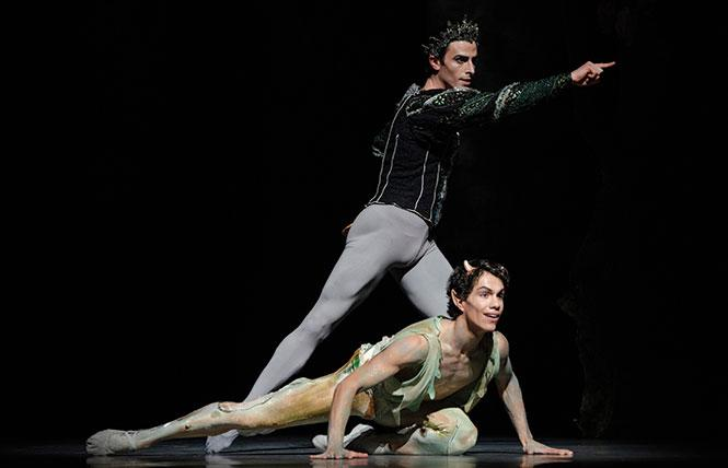 "Joseph Walsh and Esteban Hernandez in Balanchine's ""A Midsummer Night's Dream."" Photo: Erik Tomasson"