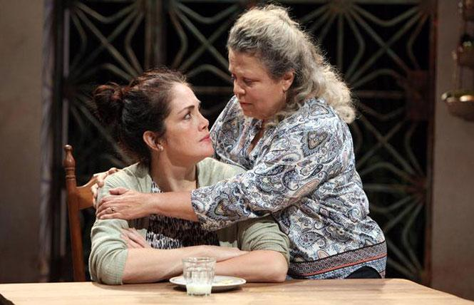 "Yetta Gottesman and Wilma Bonet in ""Don't Eat the Mangos"" at the Magic Theater. Photo: Jennifer Reiley"