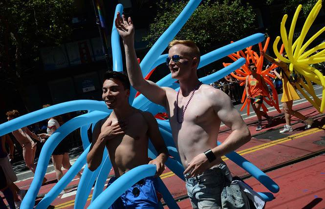 Revelers marched in last year's San Francisco Pride parade. Photo: Rick Gerharter
